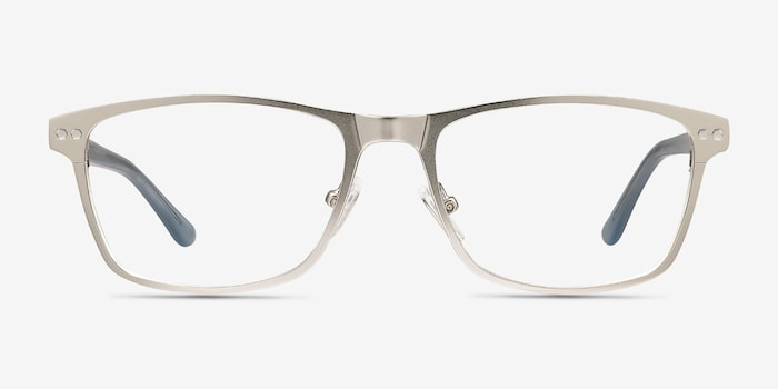Comity Silver Acetate Eyeglass Frames from EyeBuyDirect, Front View