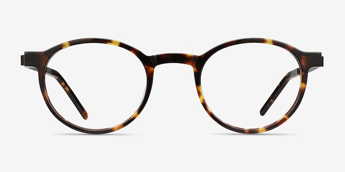 Anomaly Tortoise Acetate Eyeglass Frames from EyeBuyDirect, Front View