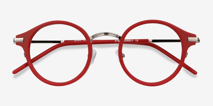 Roto Red Acetate Eyeglass Frames from EyeBuyDirect, Closed View