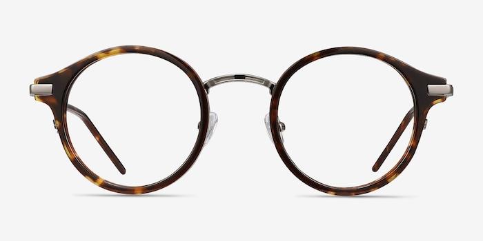 Roto Ecaille Acétate Montures de Lunettes d'EyeBuyDirect, Vue de Face