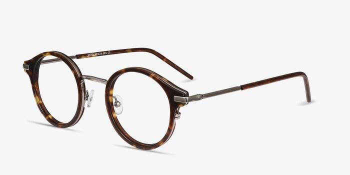 Roto Ecaille Acétate Montures de Lunettes d'EyeBuyDirect, Vue d'Angle