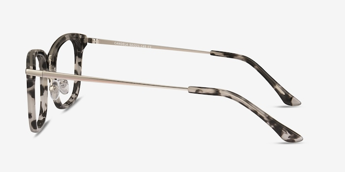 Candela Gray Floral Acetate Eyeglass Frames from EyeBuyDirect, Side View