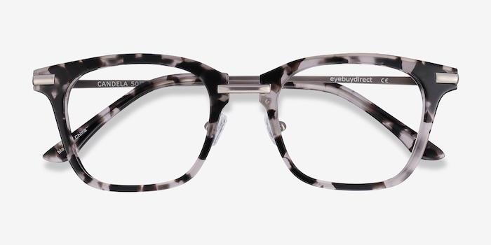 Candela Gray Floral Acetate Eyeglass Frames from EyeBuyDirect, Closed View