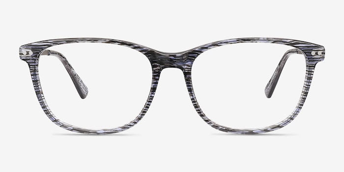 Striped Grid -  Acetate Eyeglasses