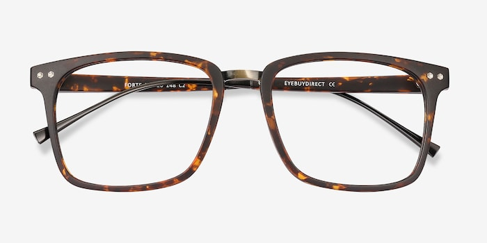 Forte Tortoise Plastic Eyeglass Frames from EyeBuyDirect, Closed View
