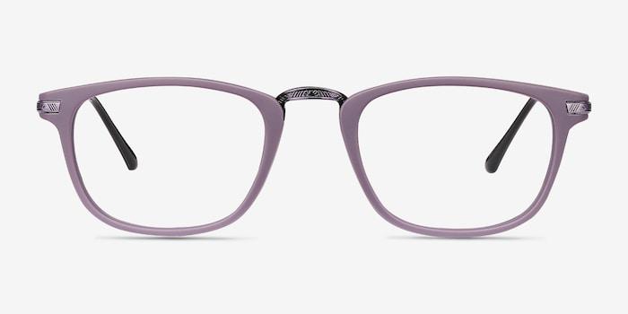 Catcher Violet Métal Montures de Lunettes d'EyeBuyDirect, Vue de Face