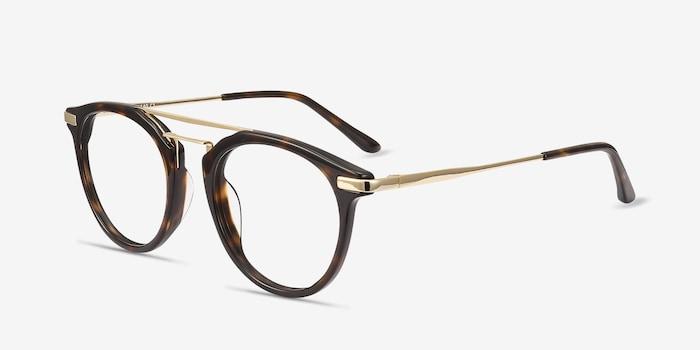 Alba Tortoise Acetate Eyeglass Frames from EyeBuyDirect, Angle View
