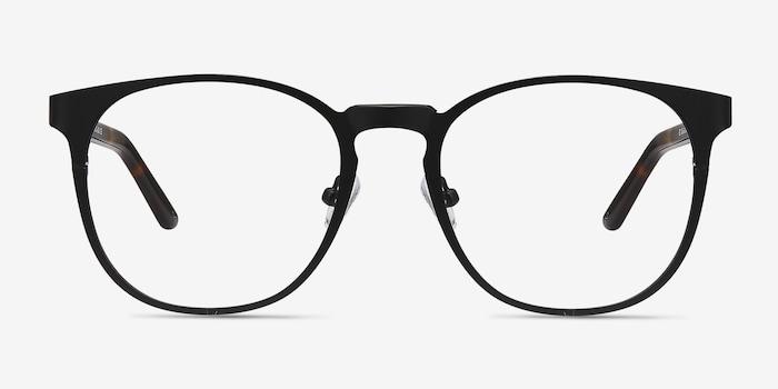 Resonance Black Acetate Eyeglass Frames from EyeBuyDirect, Front View