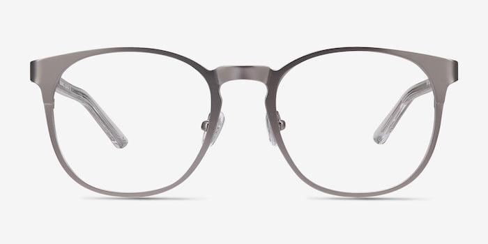 Resonance Gunmetal Acetate Eyeglass Frames from EyeBuyDirect, Front View