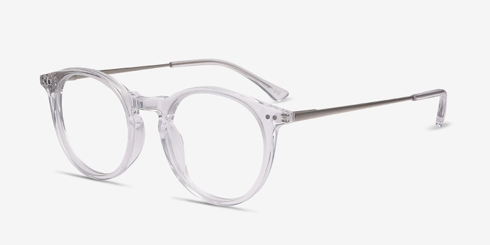 Luminous Clear Acetate Eyeglass Frames from EyeBuyDirect, Angle View