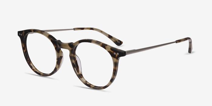 Luminous Tortoise Acetate Eyeglass Frames from EyeBuyDirect, Angle View