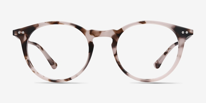 Luminous Pink Tortoise Acetate Eyeglass Frames from EyeBuyDirect, Front View