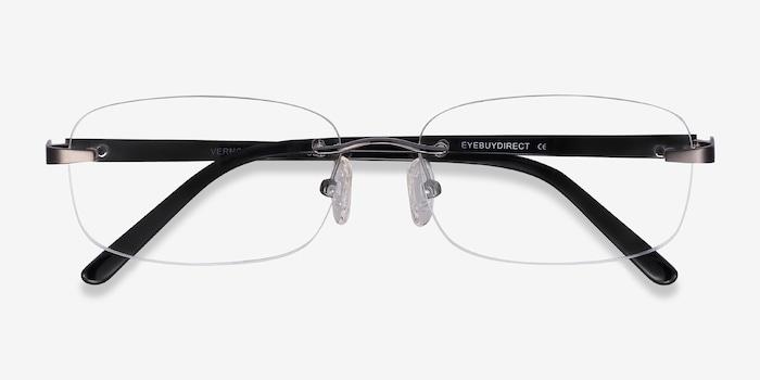 Vernon Gunmetal Acetate Eyeglass Frames from EyeBuyDirect, Closed View