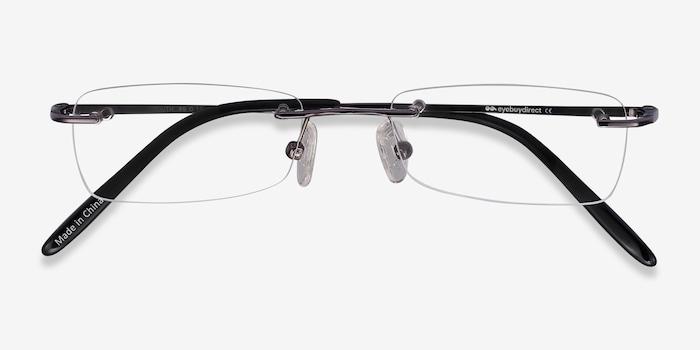 South  Gunmetal  Metal Eyeglass Frames from EyeBuyDirect, Closed View
