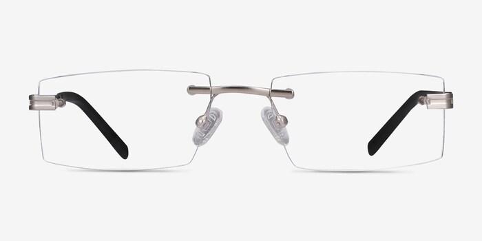 Silver Encrypt -  Metal Eyeglasses