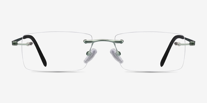 Light Green Percy -  Metal Eyeglasses