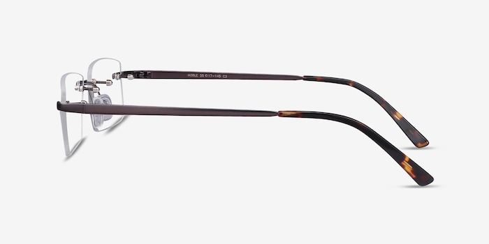 Noble Gunmetal Metal Eyeglass Frames from EyeBuyDirect, Side View