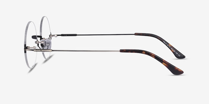 Palo Alto Bronze Metal Eyeglass Frames from EyeBuyDirect, Side View