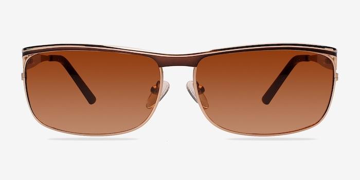 Golden/Brown Brighton -  Metal Sunglasses