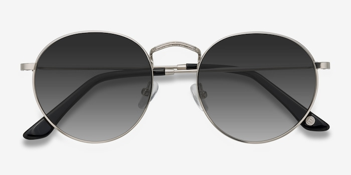 Disclosure Gray Metal Sunglass Frames from EyeBuyDirect, Closed View
