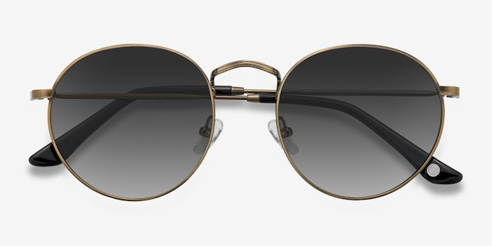 Disclosure Brown Metal Sunglass Frames from EyeBuyDirect, Closed View