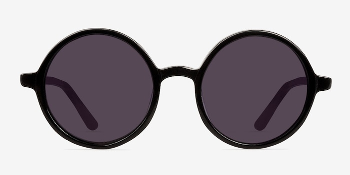 Black Alena -  Vintage Acetate Sunglasses