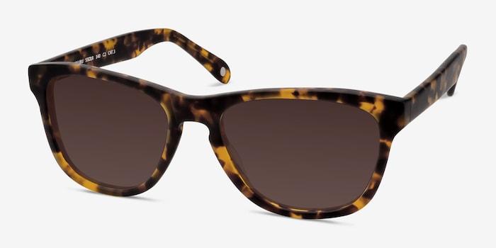 Malibu Brown/Tortoise Acetate Sunglass Frames from EyeBuyDirect, Angle View