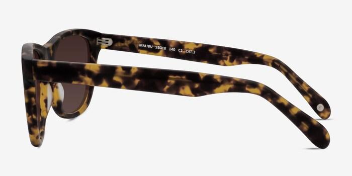 Malibu Brown/Tortoise Acetate Sunglass Frames from EyeBuyDirect, Side View