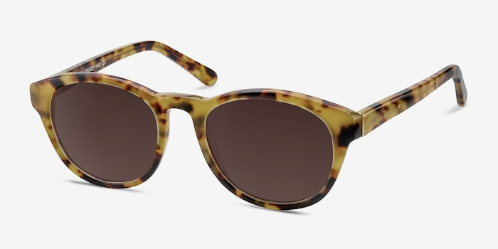 Coppola Brown/Tortoise Plastic Sunglass Frames from EyeBuyDirect, Angle View