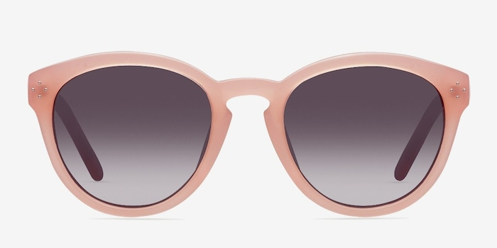 Augustine Pink Plastic Sunglass Frames from EyeBuyDirect, Front View