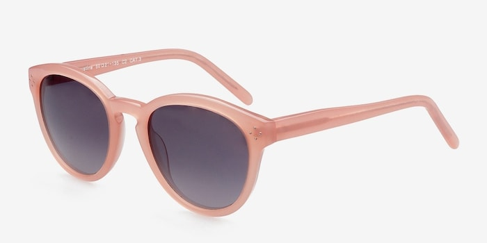 Augustine Pink Plastic Sunglass Frames from EyeBuyDirect, Angle View