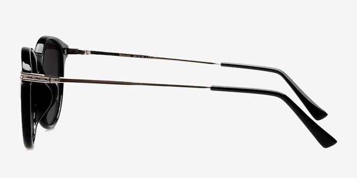Monroe Black Plastic Sunglass Frames from EyeBuyDirect, Side View