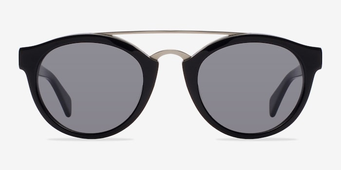 Enzo Black Acetate Sunglass Frames from EyeBuyDirect, Front View