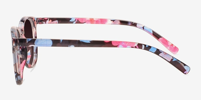 Deja vu Blue/Floral Plastic Sunglass Frames from EyeBuyDirect, Side View
