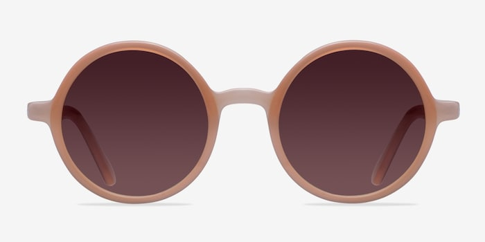 Alena Pink Acetate Sunglass Frames from EyeBuyDirect, Front View