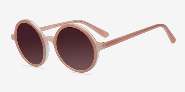 Alena Pink Acetate Sunglass Frames from EyeBuyDirect, Angle View