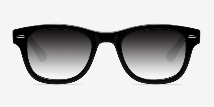 Hanoi Black Acetate Sunglass Frames from EyeBuyDirect, Front View