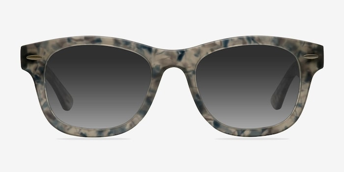 Hanoi Clear Floral Acetate Sunglass Frames from EyeBuyDirect, Front View