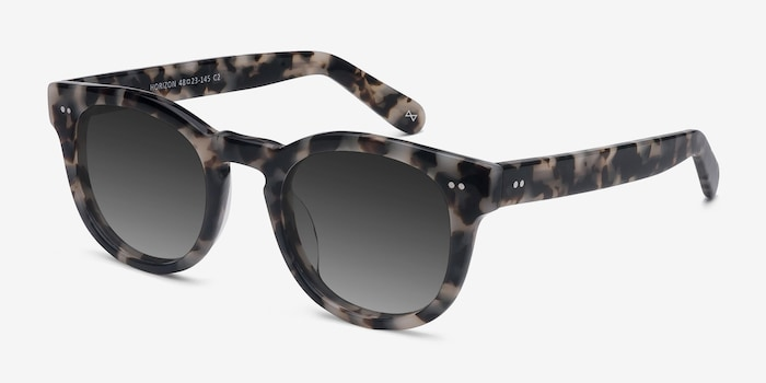Horizon Marbled Tortoise Acetate Sunglass Frames from EyeBuyDirect, Angle View
