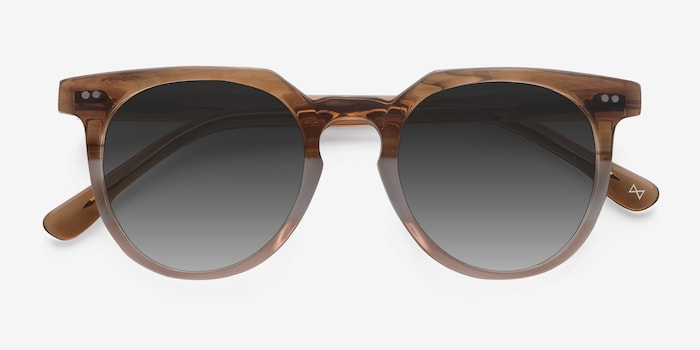 Shadow Neapolitan Acetate Sunglass Frames from EyeBuyDirect, Closed View
