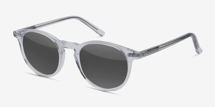Sun Kyoto Clear Acetate Sunglass Frames from EyeBuyDirect, Angle View