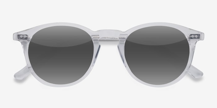 Sun Kyoto Clear Acetate Sunglass Frames from EyeBuyDirect, Closed View
