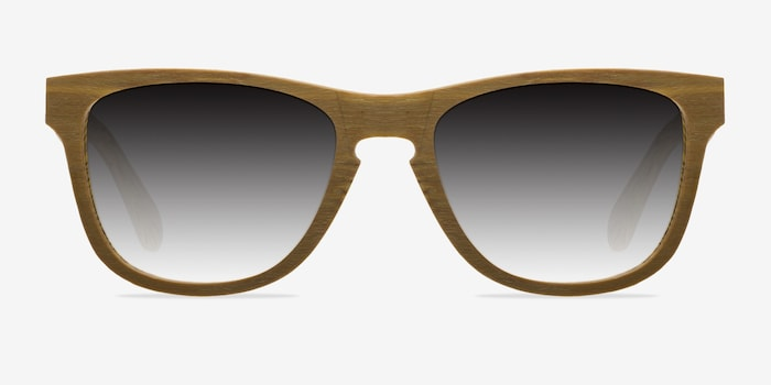 Yellow Malibu -  Wood Texture Sunglasses