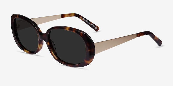 Lauren Tortoise Acetate Sunglass Frames from EyeBuyDirect, Angle View