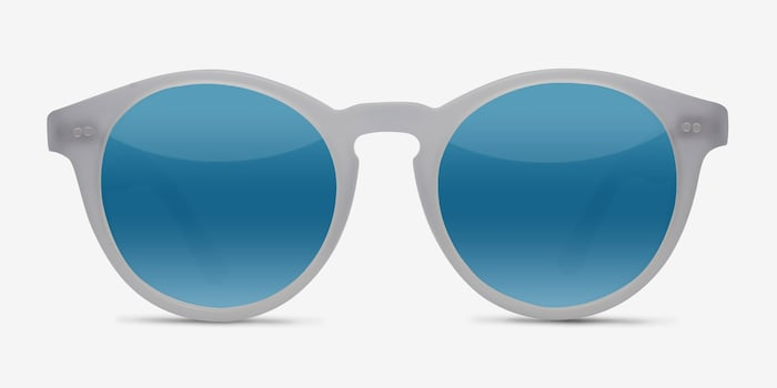 Havana Matte Clear Acetate Sunglass Frames from EyeBuyDirect, Front View