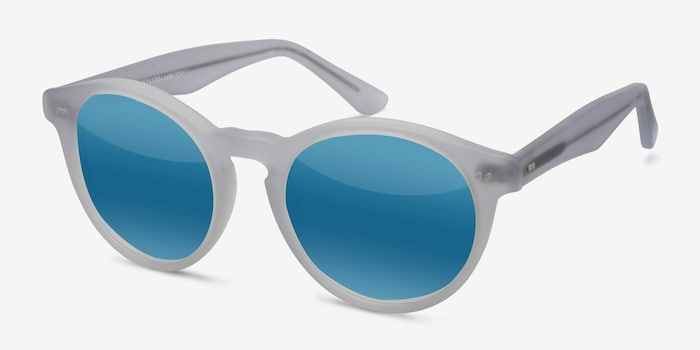 Havana Matte Clear Acetate Sunglass Frames from EyeBuyDirect, Angle View