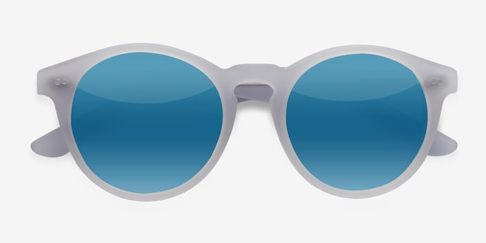 Havana Matte Clear Acetate Sunglass Frames from EyeBuyDirect, Closed View