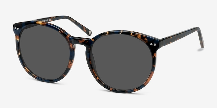 Vapor Blue Floral Acetate Sunglass Frames from EyeBuyDirect, Angle View