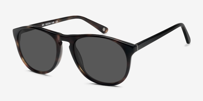 Silt Tortoise Acetate Sunglass Frames from EyeBuyDirect, Angle View