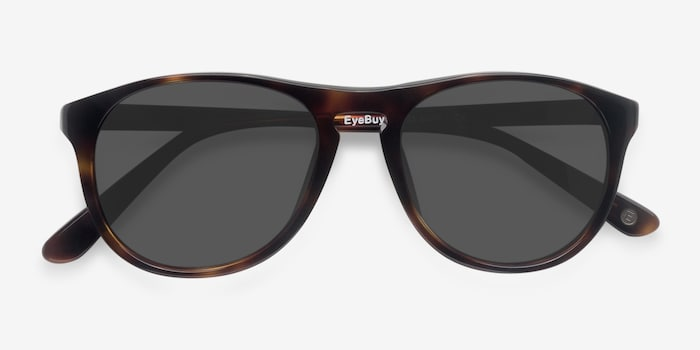 Silt Tortoise Acetate Sunglass Frames from EyeBuyDirect, Closed View